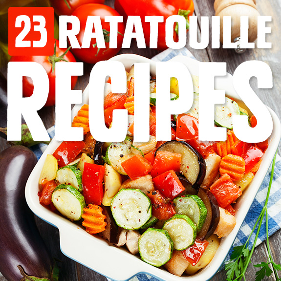 From fancy to easy, there's a ratatouille recipe here for every occasion. My favorite is the one that looks like it's from the Pixar movie.