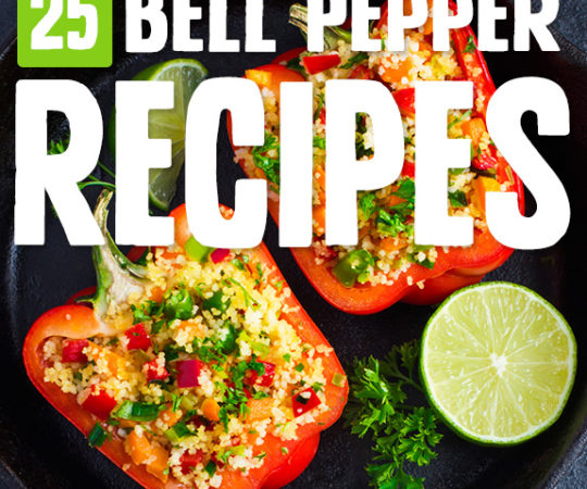 Bell peppers are often get lost in the shuffle of other ingredients, but in these bell pepper recipes they're the main attraction. I make sure to get all the different colors of peppers.