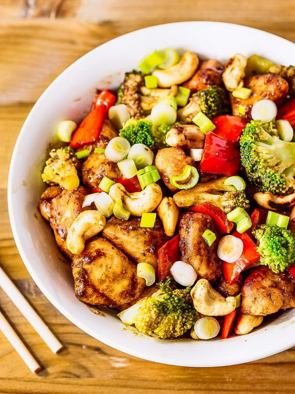 This Cashew Chicken recipe has all the flavors of Chinese take-out and it's still perfectly Paleo!