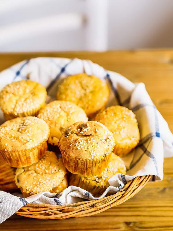 Craving carbs? Try these savory zucchini muffins that are packed with flavor and nutrients that you'd never get from white bread.