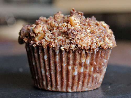Apple Butter Crumble Muffins