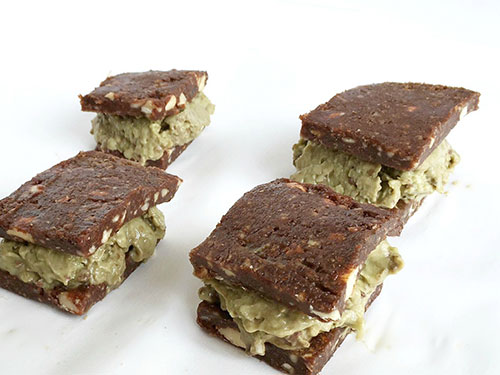 Avocado Mint Chip Ice Cream Sandwiches