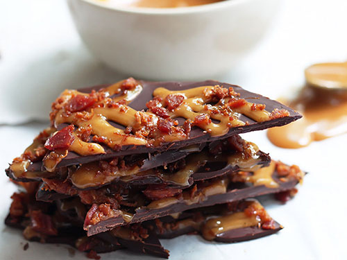 Bacon Dark Chocolate Bark With Salted Coconut Caramel