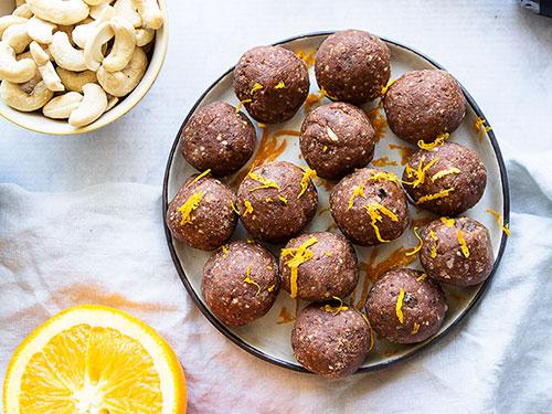 Chocolate Orange Bliss Ball Truffles
