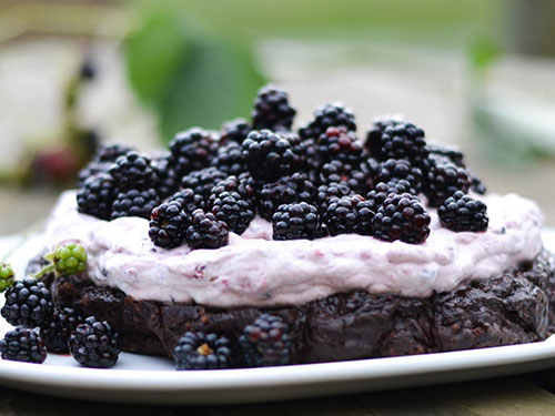 Chocolate and Blackberry Cream Dream Cake