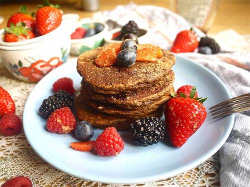 Chocolaty Cocoa Paleo Pancakes