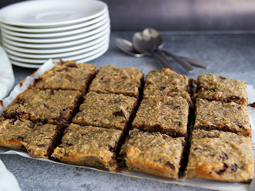 Coconut Flour Chocolate Chunk Vegan Blondies