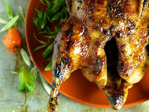 Crispy Roasted Duck With Habanero Honey Glaze