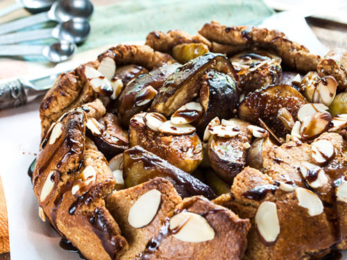 Fig Galette With Honey Balsamic Glaze