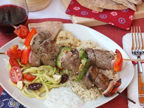 Greek-Style Beef Kabobs