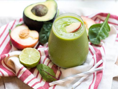Green Avocado Peach Smoothie
