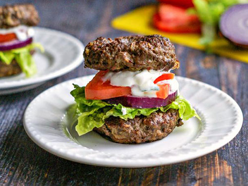 Low Carb Gyro Burger