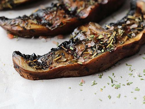 Mediterranean Grilled Portobello Mushrooms