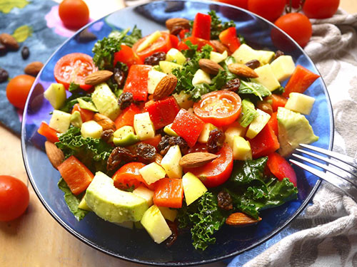 Naturally Sweet and Crunchy Paleo Kale Salad