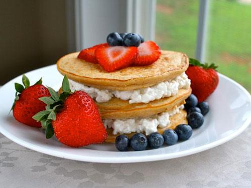 PB&J Coconut Pancakes