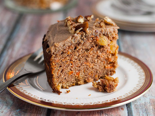 Paleo Carrot Cake With Maple Pecan Glaze