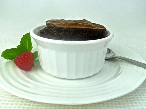 Paleo Dark Chocolate Souffle