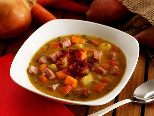 Paleo Ham and Sweet Potato Soup