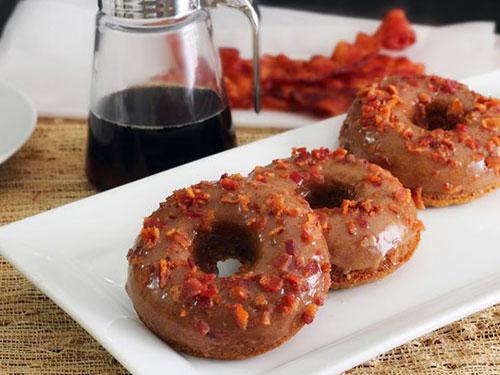 Paleo Maple Bacon Donuts