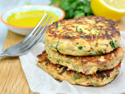 Salmon and Courgette Fritters