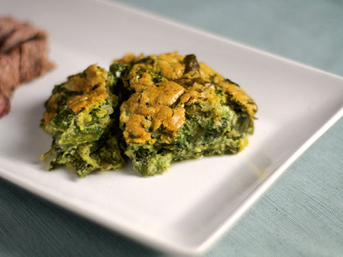 Spinach and Chard Souffle