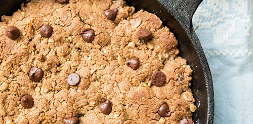 Sunbutter Chocolate Chip Paleo Skillet Cookie