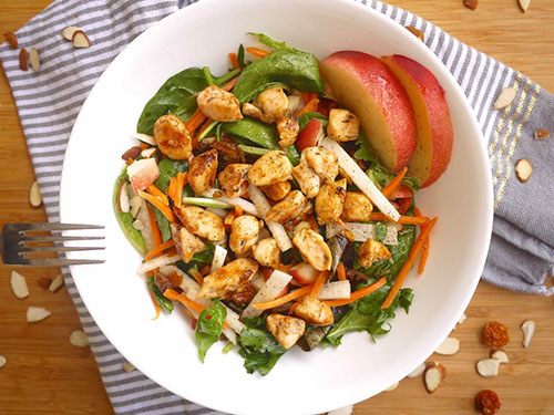Sweet Summer Salad Bowls With Lemon-Honey Chicken
