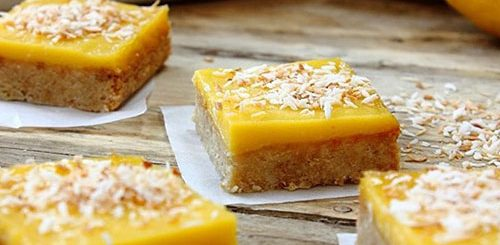 Zingy Lemon Curd Squares