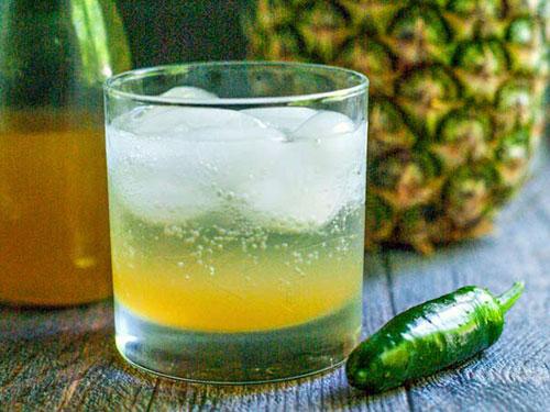 Pineapple Jalapeno Shrub Cocktail