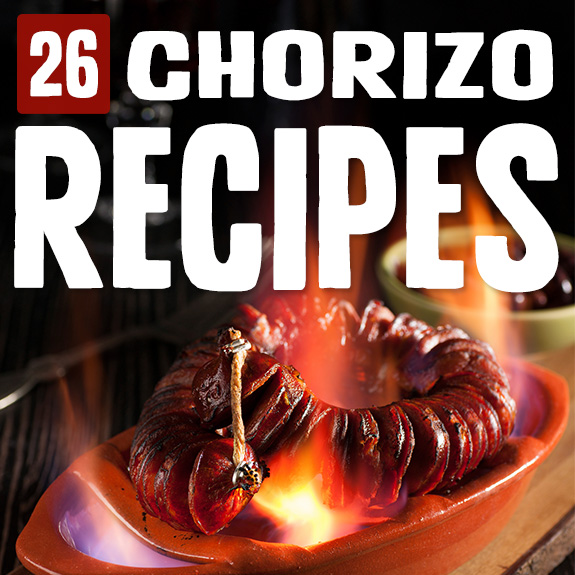 I'm a big fan of chorizo. Just love the stuff. So I just had to peruse this list of chorizo recipes and try out the ones that just begged to be made.
