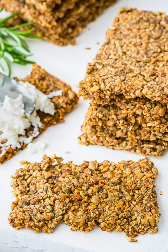 I snack like a Paleo champ thanks to these nut and seeds crackers.
