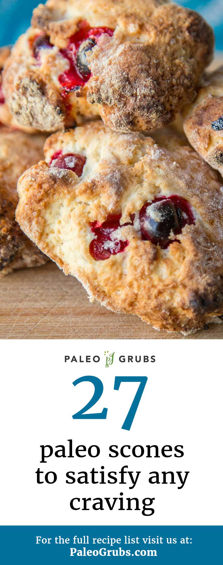 No more waiting in line at the coffee shop for an unhealthy scone! Now I make my own Paleo versions at home thanks to these scone recipes. Super yum!