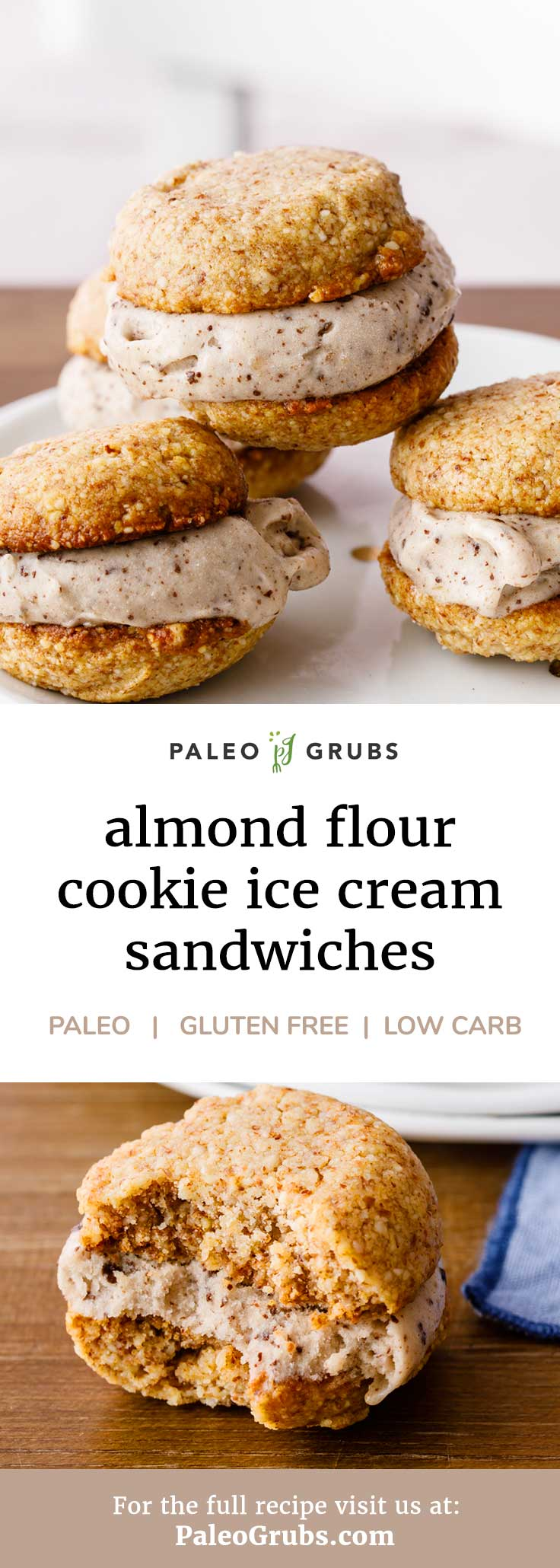 These homemade almond flour cookie ice cream sandwiches are like gold in my house! So good. Kids and husband love them.