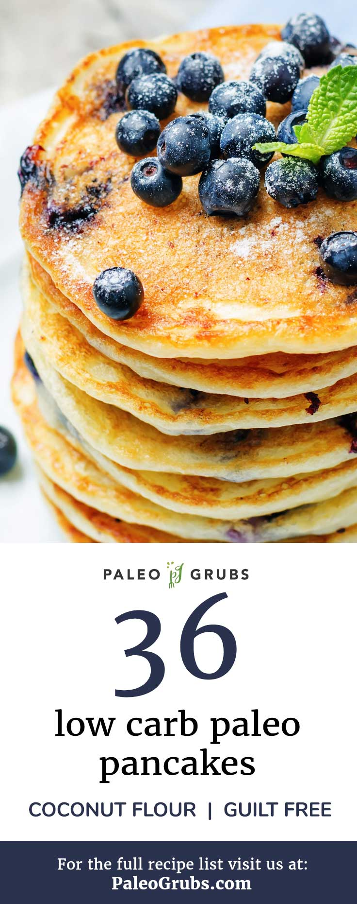 I love these guilt-free coconut flour paleo pancake recipes! They make the best low carb meal, and actually reheat really well for a quick snack.