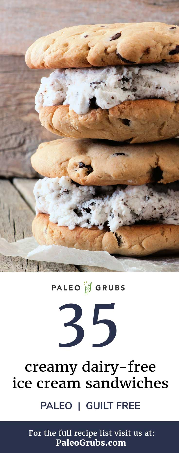 These dairy-free ice cream sandwiches are creamy, rich, and just plain yummy! Give one a try.