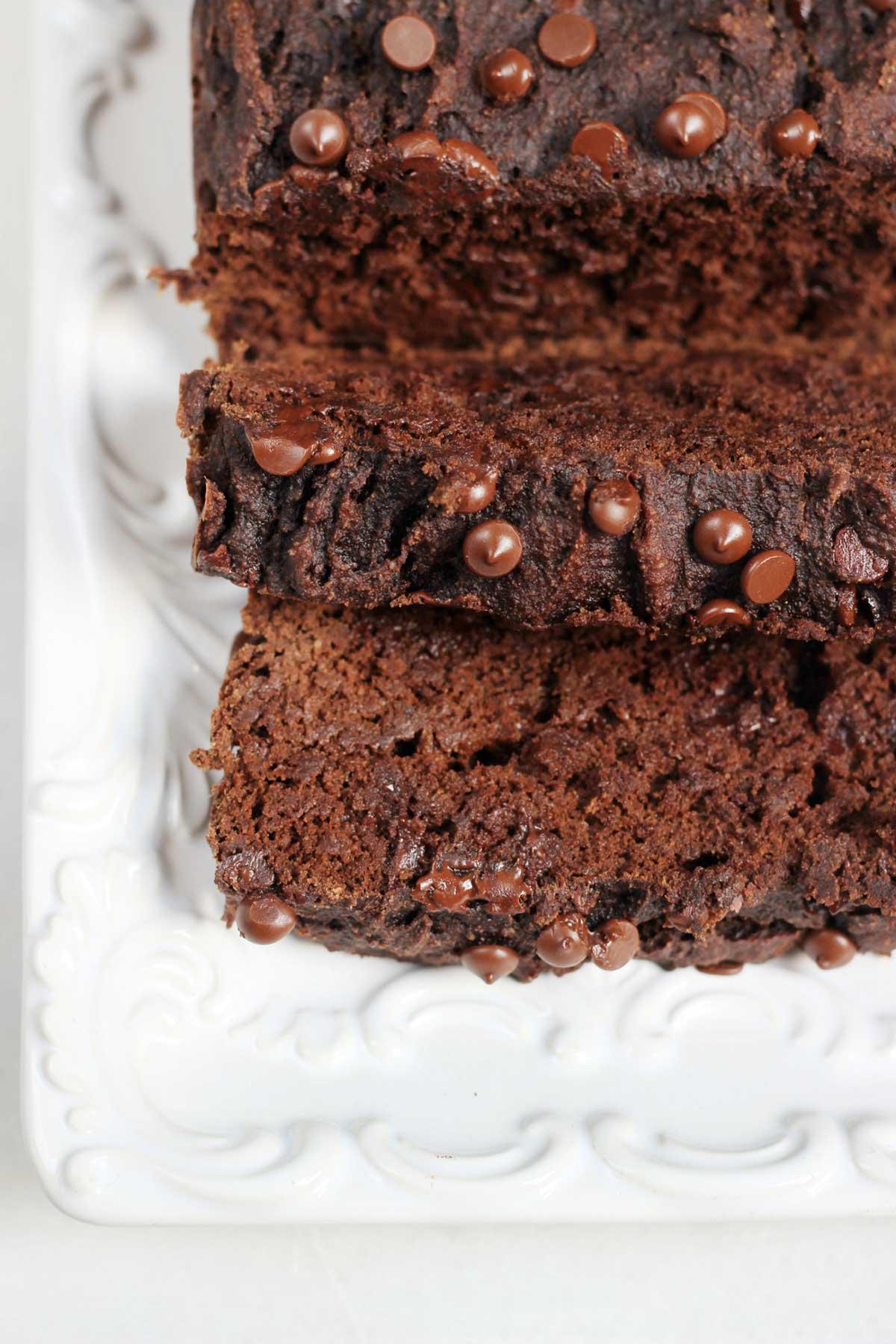 double chocolate paleo banana bread