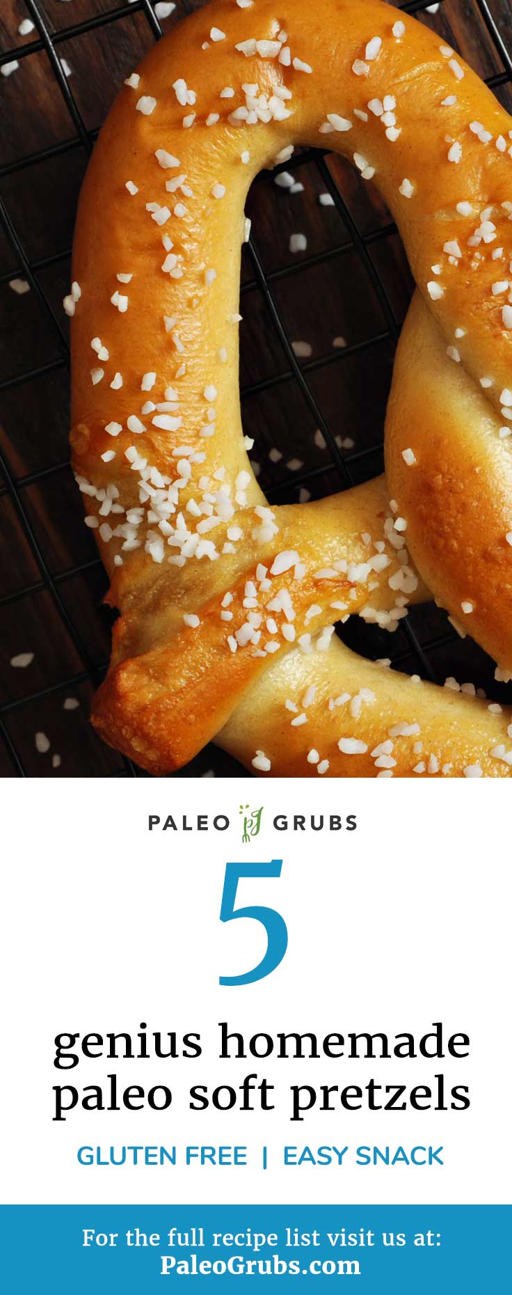 homemade paleo soft pretzels