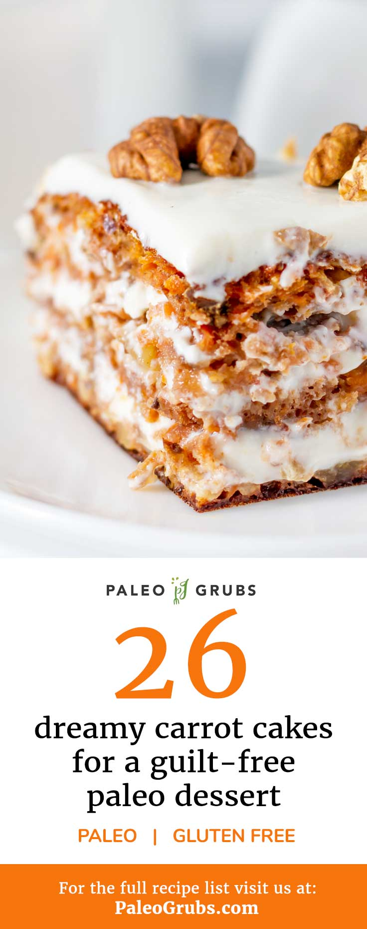 Try these paleo carrot cake recipes, completely free of refined sugars, dairy, and grains. Now you can get your Paleo dessert fix and feel good about it at the same time!