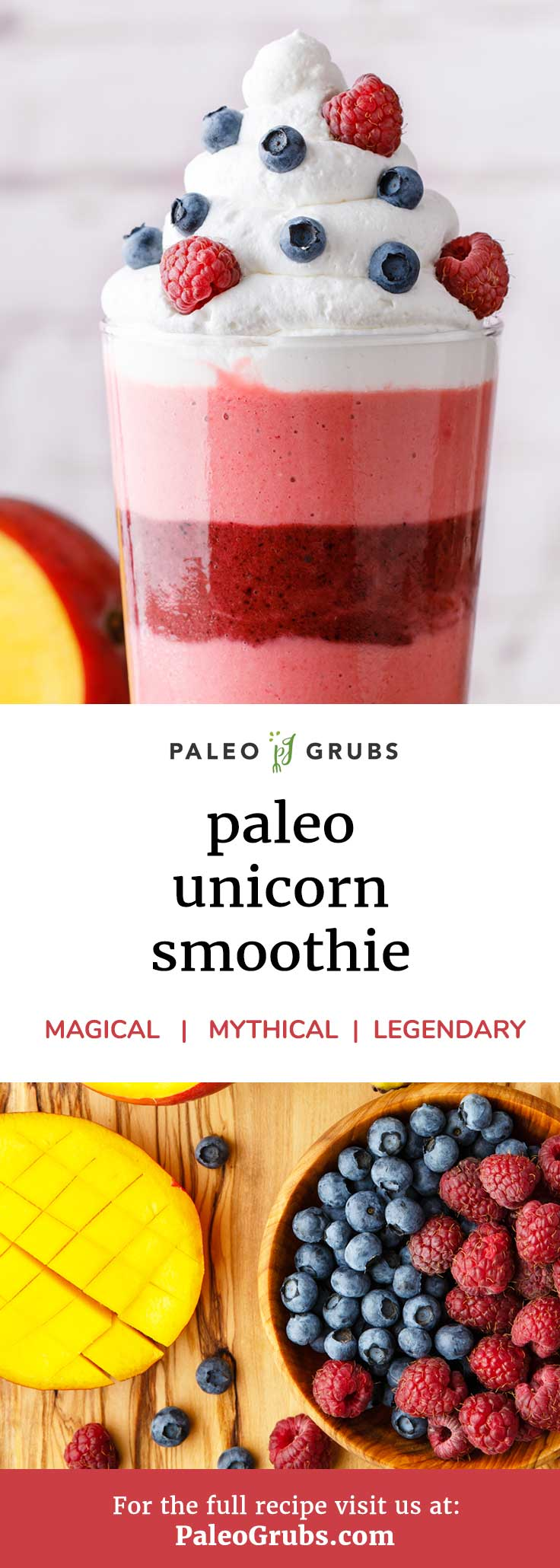 Don't miss out on this magical unicorn paleo smoothie (and it's healthy!)