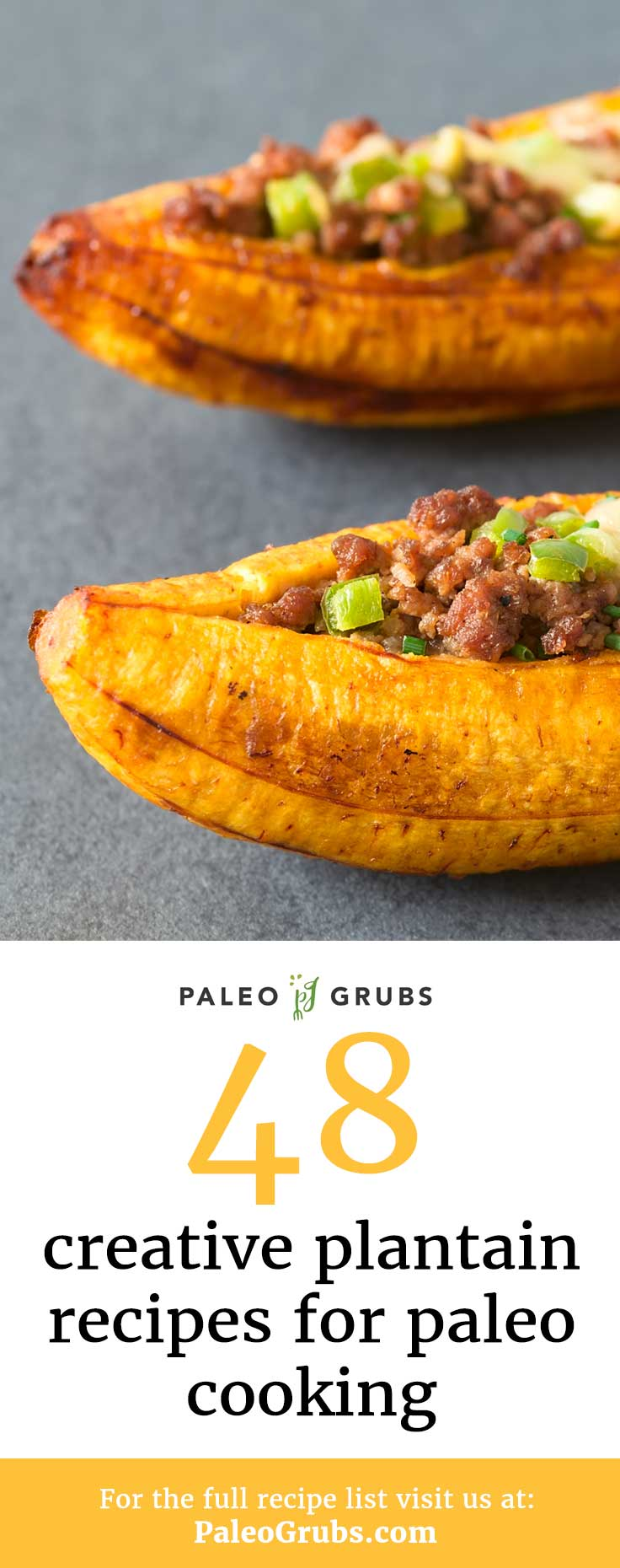 Plantains make a perfect substitute for potato in Paleo cooking! Here is a list of my favorite plantain recipes that use this fruit as a creative Paleo substitute.