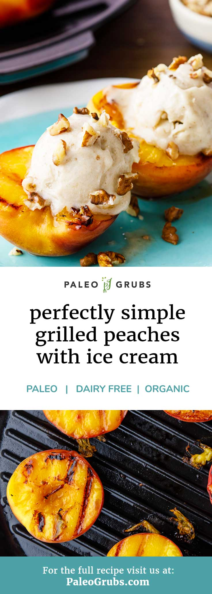 These grilled peaches are probably the easiest paleo dessert I have ever made! And they are to die for. Definitely a keeper.