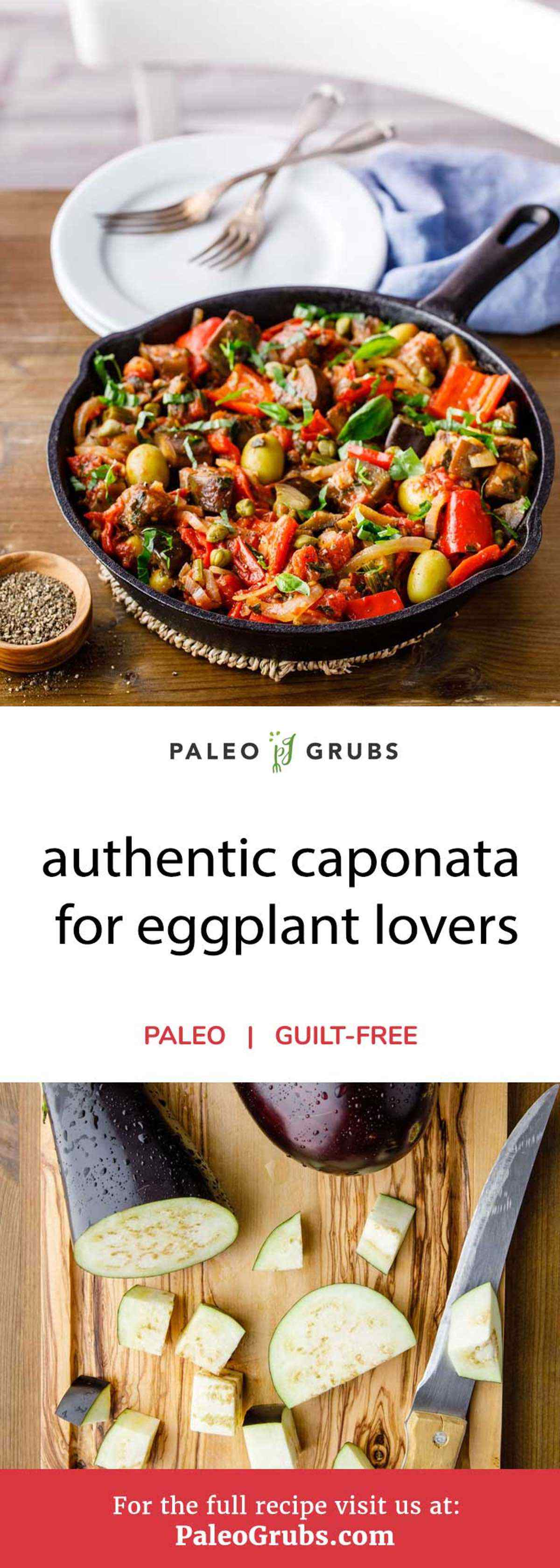 Take your homecooked meals to the next level with the fresh aroma and taste of a caponata made with colorful vegetables and fruits. Its flavors come from a unique blend of herbs and spices that make for an excellent vegetarian dish. A caponata is versatile in that it can be paired with some grilled herbed chicken breast or even a roasted rack of lamb. It's not the easiest dish to prepare paleo-style, but it's well worth the effort.