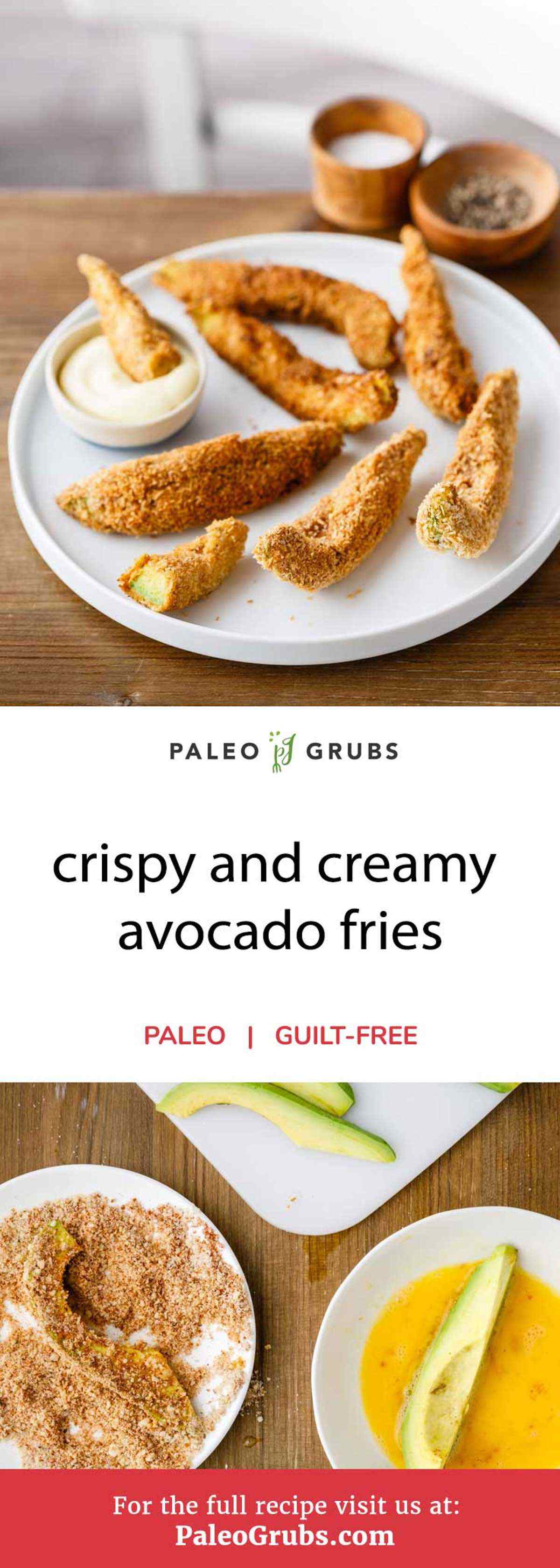 Pass on the high-carb, trans-fat loaded French fries and give these wonderfully crispy and creamy avocado fries a try instead. Sliced pieces of avocado are dipped in beaten eggs before being coated with a delightful mixture of almond flour, salt, smoked paprika, chili flakes, and shredded coconut. They are fried to create one unbelievably tasty finger food.