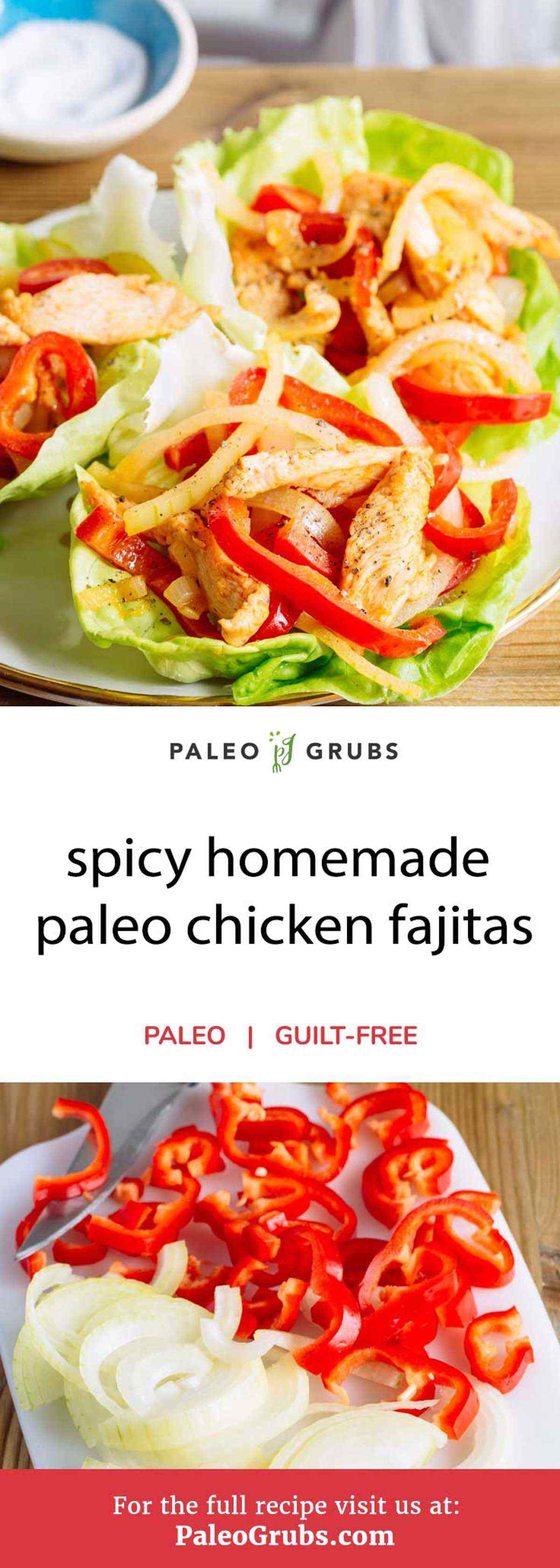 Looking for a healthy Tex-Mex meal option that's perfectly spicy and loaded with flavor? This chicken fajita with paleo tortillas recipe has got you covered then. It's got homemade tortillas that are completely grain-free and an incredible fajita mixture using herbs and spices along with several bell pepper colors with onion. It's incredibly easy to prepare as well meaning you'll be on your way to enjoying a spicy hot Tex-Mex meal in no time at all.