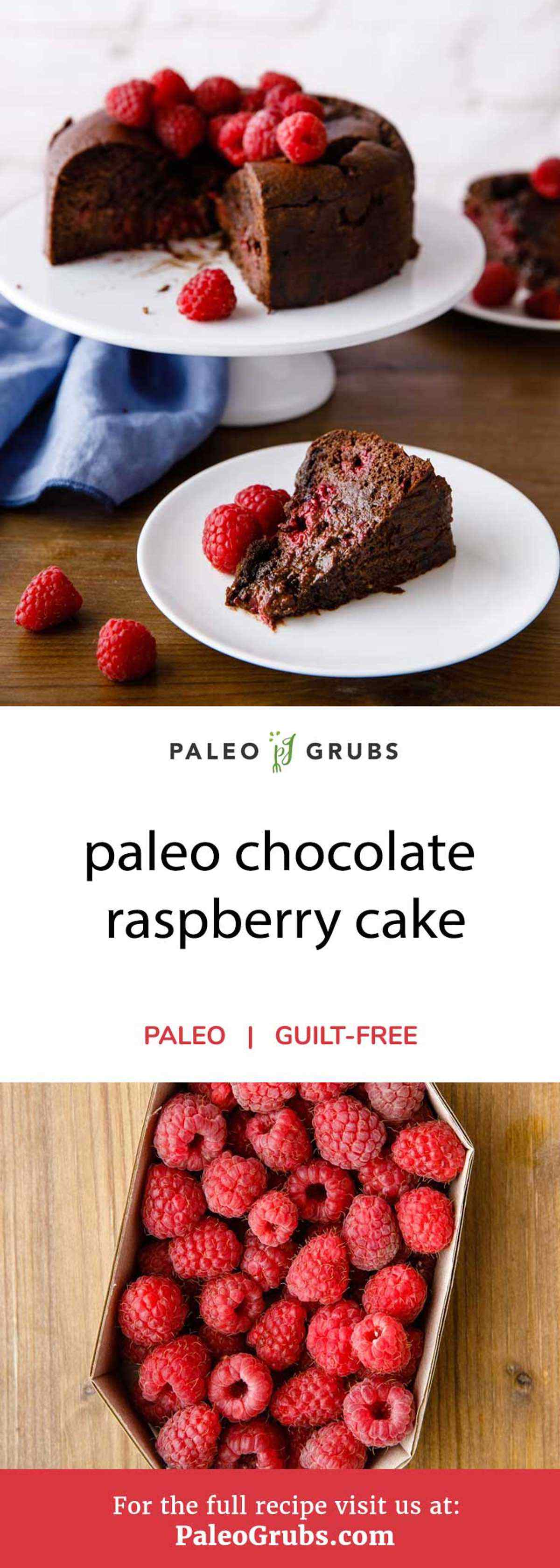 Attention all cake lovers -- you absolutely must try this paleo-friendly chocolate raspberry cake. Made entirely from scratch with all natural ingredients, it's the perfect choice for anyone looking to satisfy their sweet tooth in a healthy manner.