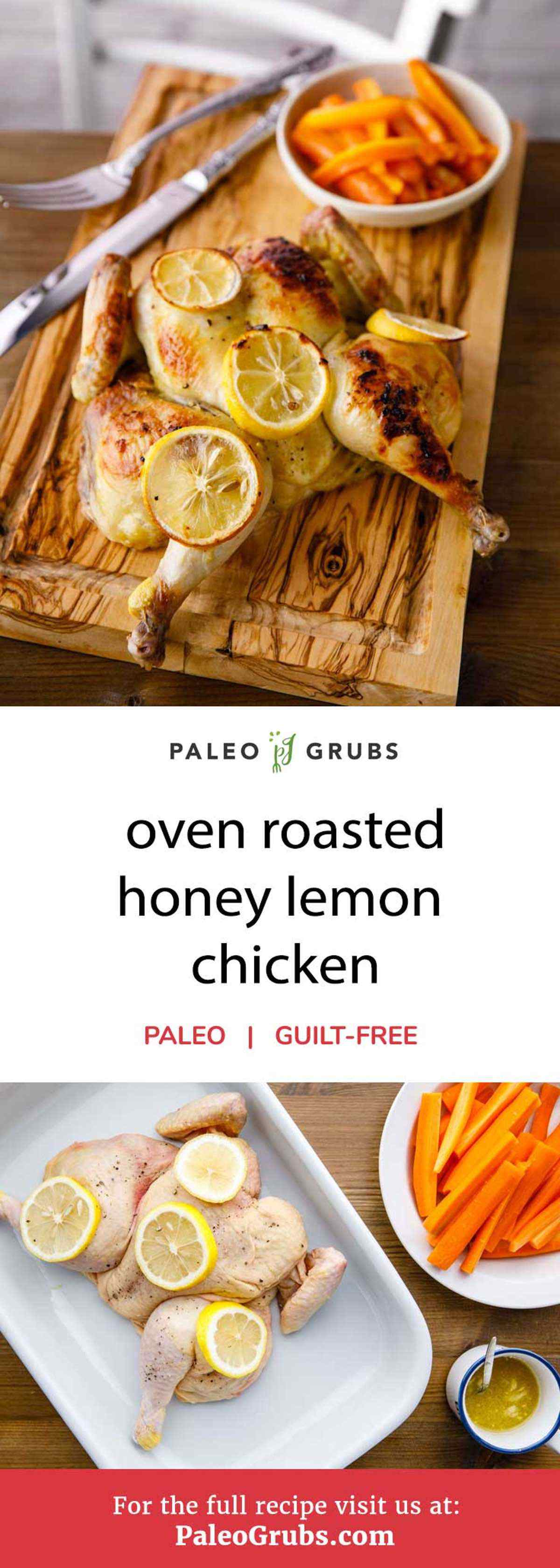 Looking for a new and different way to enjoy eating chicken? You've come to the right place. This recipe uses a whole chicken that's been flattened the backbone removed and drizzled with a fantastic honey mixture and topped with lemon slices. Simply bake it for 25-30 minutes and you're all set to enjoy an unbelievably juicy roasted honey lemon chicken.