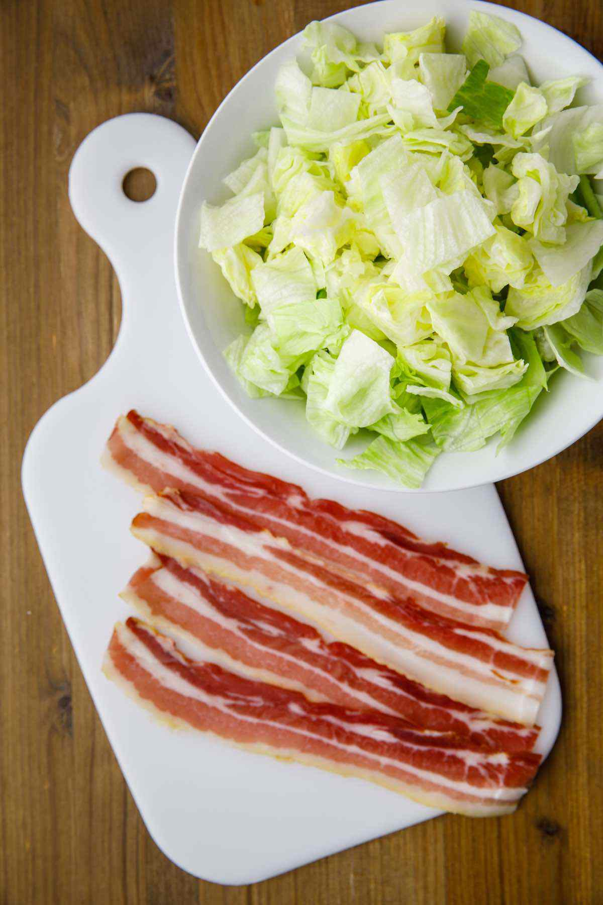 blt salad prep