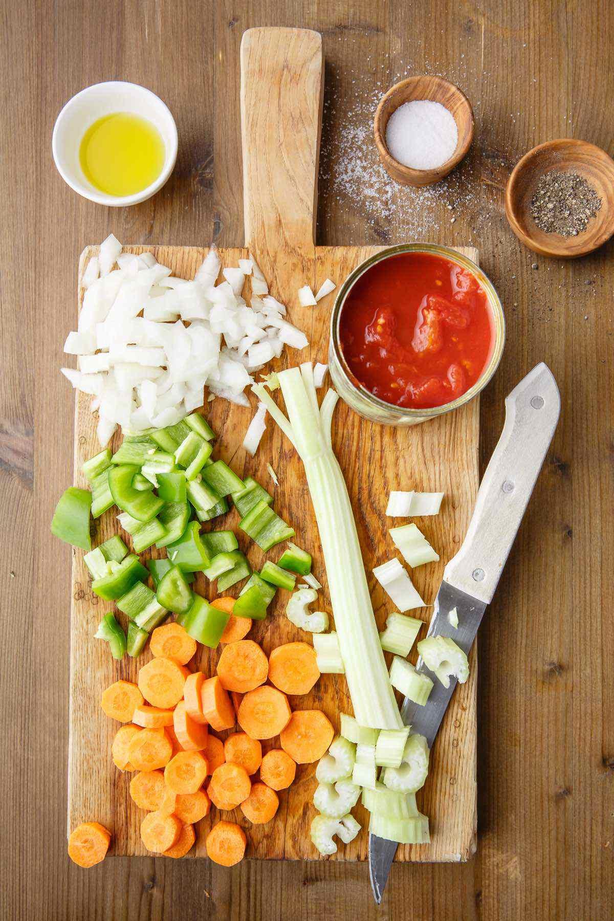 cabbage soup prep