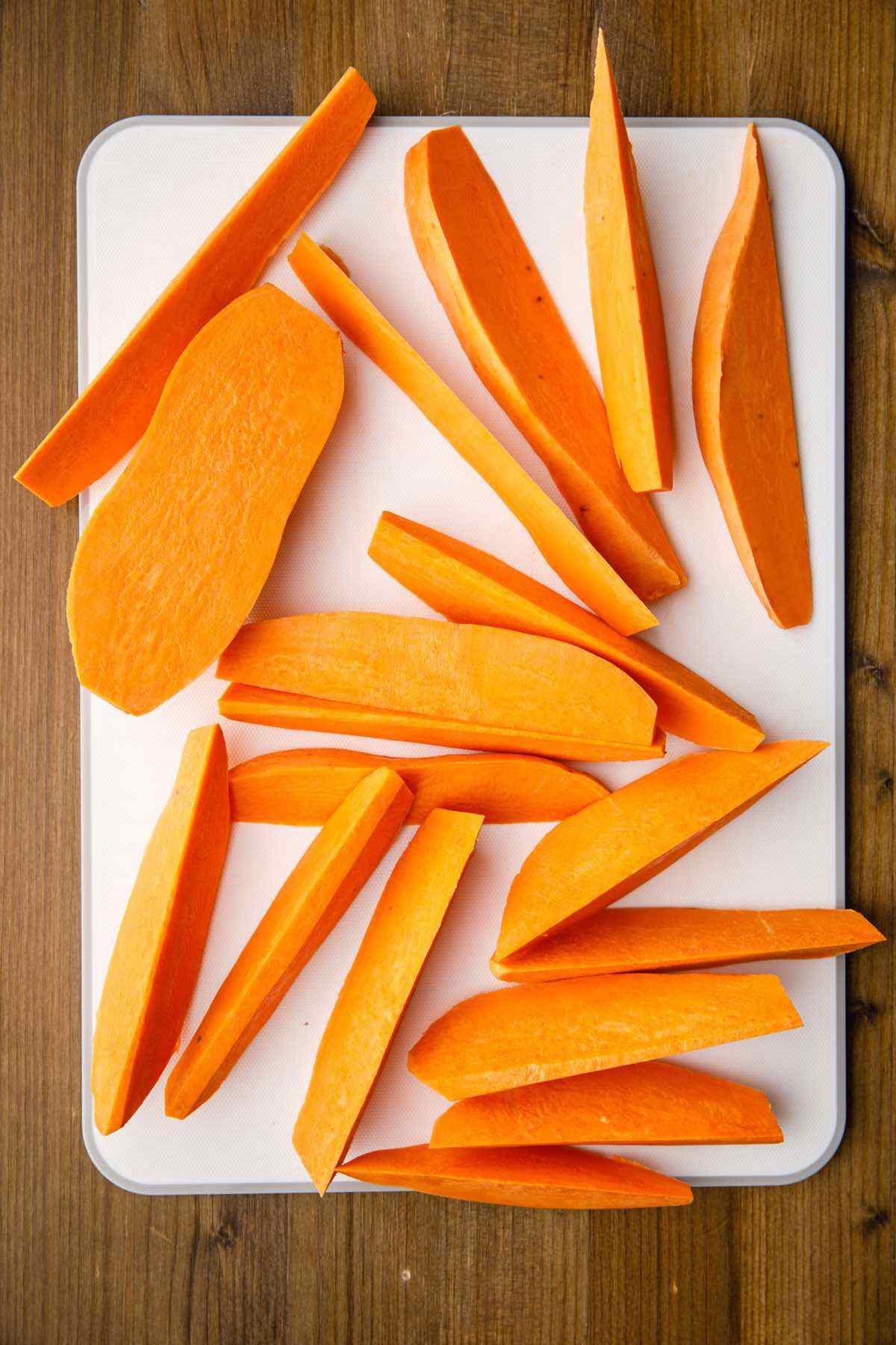 chopped sweet potato wedges