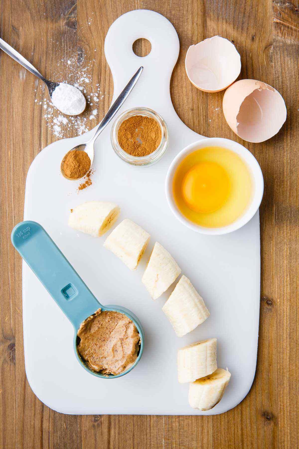 banana waffles ingredient prep